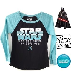STAR WARS Pj Pajama Thermal Top Shirt Blouse Sz XS